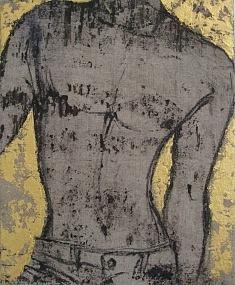 acrylique et pigments sur toile (41 X 33 cm)