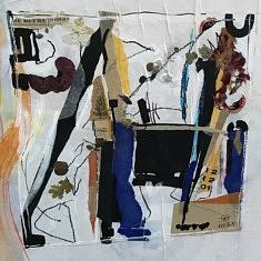 fresque sur le mur des AAB  en duo avec Henri Gay qui expose aussi à l'atelier n°31