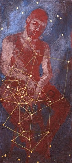 Diseur de phantasmes - 2015 - acrylique sur bois - 36x16 cm