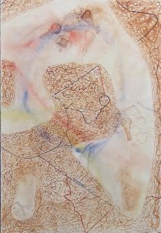 """""""Relief 1111b"""" Aquarelle et gaufrage sur papier (56x40) 2011"""