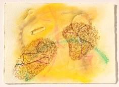 """""""Relief 158"""" Pastel et gaufrage sur papier (20x14) 2015"""