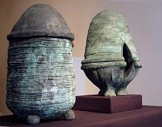 vases rituels yin et yang  -bronze- (photo Pierre Mendel)