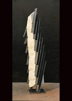 Grands pas de deux - Marbre de carrare et Ardoise – 65 x 13 x 11 cm