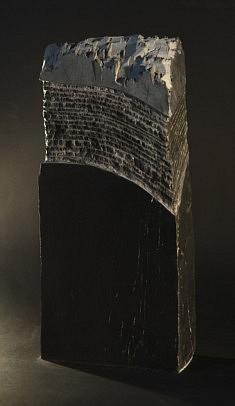 La cité engoutie - Ardoise – 42 x 18 x 8 cm