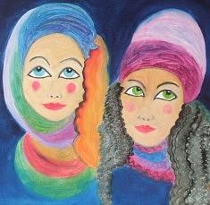 Afghanes - Peinture à l'huile