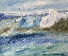 Impression marine 2 - Peinture à l'huile