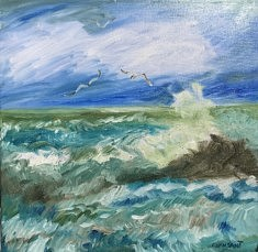 Impression marine 3 - Peinture à l'huile
