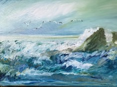Impression marine 1 - Peinture à l'huile