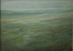 Brumes vertes Technique mixte sur toile 50x70cm