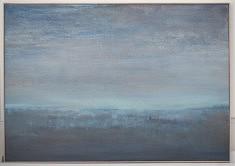 Grand bleu, Technique mixte sur toile 81X116cm