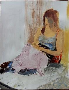 Sabine lisant