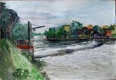 quai du barrage Joinville 50X32