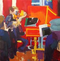 Au clavecin                    Huile sur toile        100 x 100
