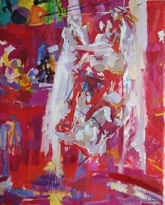 """""""Les Acrobates"""" Huile sur toile :162 x 130"""