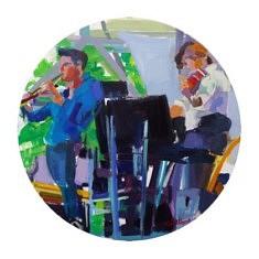 Les   Musiciens           Huile sur toile       Tondo  70