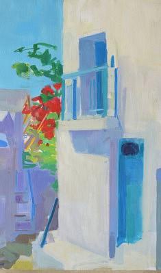 Ruelle à Langada                    huile sur toile  100 x 73