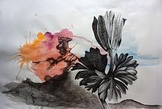 Série Entre Chien et Loup 3, feutre et aquarelle sur papier 2017 118X84 cm