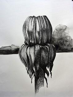 Série Série Noire 11, feutre sur papier, 55x65 cm,  2016