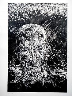 Head • gravure sur bois