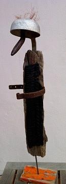 """""""Grand Nez"""" (ustensiles, outils + bois flottés) -2012"""