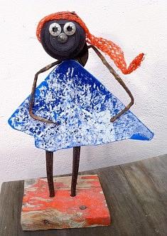 """""""La petite robe bleue"""" technique mixte 2014"""