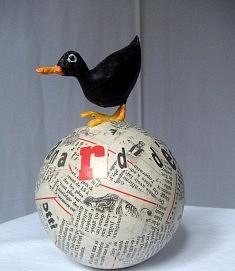 Le canard déchaîné, hauteur : 33 cm - 250 €