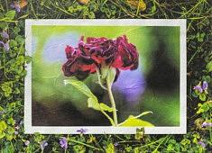 Méridienne, Canicule d'été, papier Unryu 21x15