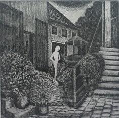 Les jardins secrets 2, Eau forte 14,5 X 14,5 cm