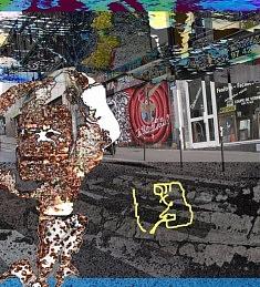 """Un des résultats du dispositif """" Laissez votre graffiti en descendant la rue de Ménilmontant"""" 2014"""