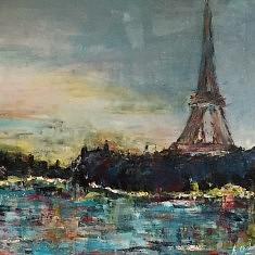 Paris, acrylique 70x70