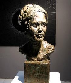 Portrait de Margherita (terre cuite patinée, h 68 cm)
