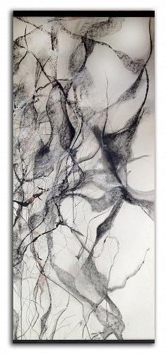 Buisson - Encre & Fusain sur papier - 62x134 cm