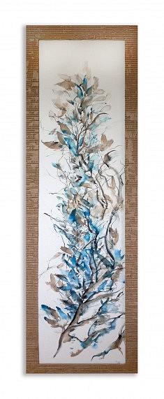 Grand Bleu - Encre 75x150 cm
