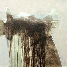 Erosions Fukushima2 2014 technique mixte sur toile 80x80cm 2014