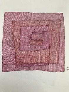 Sans titre - encre sur papier - 21x21 cm