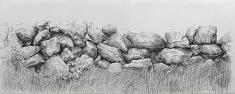 diptyque à la tête de chien2-3 • mine graphitesur papier laurier 2 fois 70x100cm