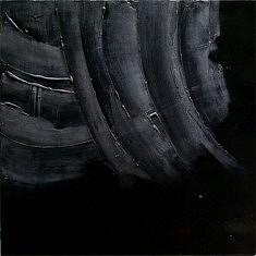 Composition noire. Laque sur toile.