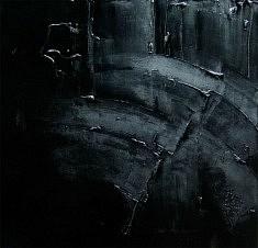 Composition . Laque sur toile.