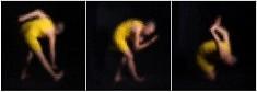 La petite robe jaune. Tryptique. Tirage pigmentaire sur baryté.