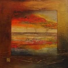 Arbre de décembre. Techniques mixtes sur toile. 100 x 100 cm. 2016