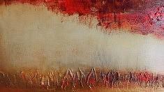 Détail Abstract 100 X 100 cm. Techniques mixtes sur toile. 2015
