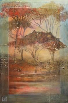 Aucune trace Techniques mixtes sur toile. 80 x 120 cm. 2019