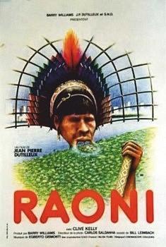 AFFICHE du film RAONI (1978): Célèbre chef indien du peuple Kayapo, Brésil