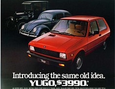 DESIGN (1969): « YUGO » La 1ère voiture Yougoslave, dessinée à « Zastava » Kragujevac, Serbie, (Photo du Web)