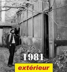 Atelier MIKI TICA (1981): Devant un local abandonné au 18 rue de Belleville, Paris 20e, (Aoujourd'hui, après les travaux, entrée est par 23 rue Ramponeau)