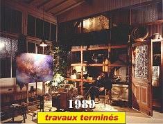 """Atelier MIKI TICA (1989): Un local réhabilité par ses propres mains, avec l'aide de ses amis et construit « sans un clou ». Ensuite: Les années '80 un projet de la ZAC de Bas-Belleville prévoyait sa démolition; Il est sauvé grâce à la mobilisation de gens du quartier; Enfin en 1993, la  Ville de Paris l'a acheté par préemption et depuis provoqué un """"trouble de jouissance"""" (photo Yves Breton)"""