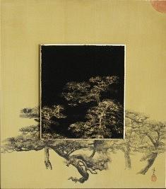 Le jour et la nuit - 2015 - Pigments de couleur - colle de cerf - encre de Chine sur cartons - 27,3 x 24,2 cm