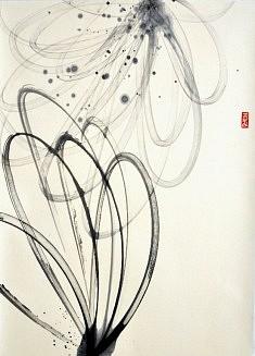 Calligraphie I - 2013 - Encre de chine - 70 x 50 cm