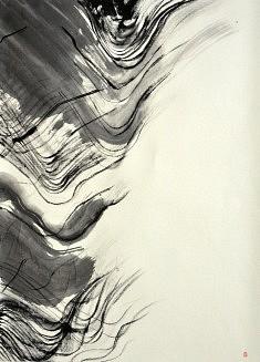Calligraphie III - 2013 - Encre de chine - 70 x 50 cm