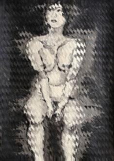 Nu évanescent - 2014 - Encre de chine - 70 x 50 cm